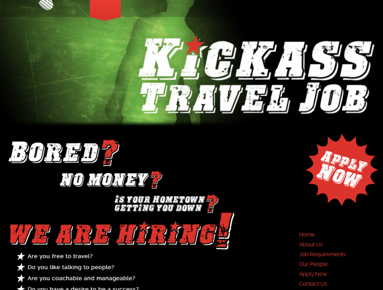 Kickass Travel Job